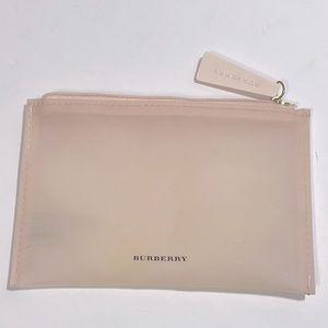 Burberry light pink makeup pouch